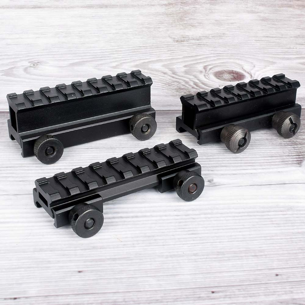 "Flat Top Mini 1/"" Rail Riser Block Mount for Pictinney or 11mm Dovetail Rail"