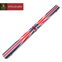 Weichster Deluxe Quality 3/4 Union Jack Flag Design Snooker Cue Case With Chalk Space
