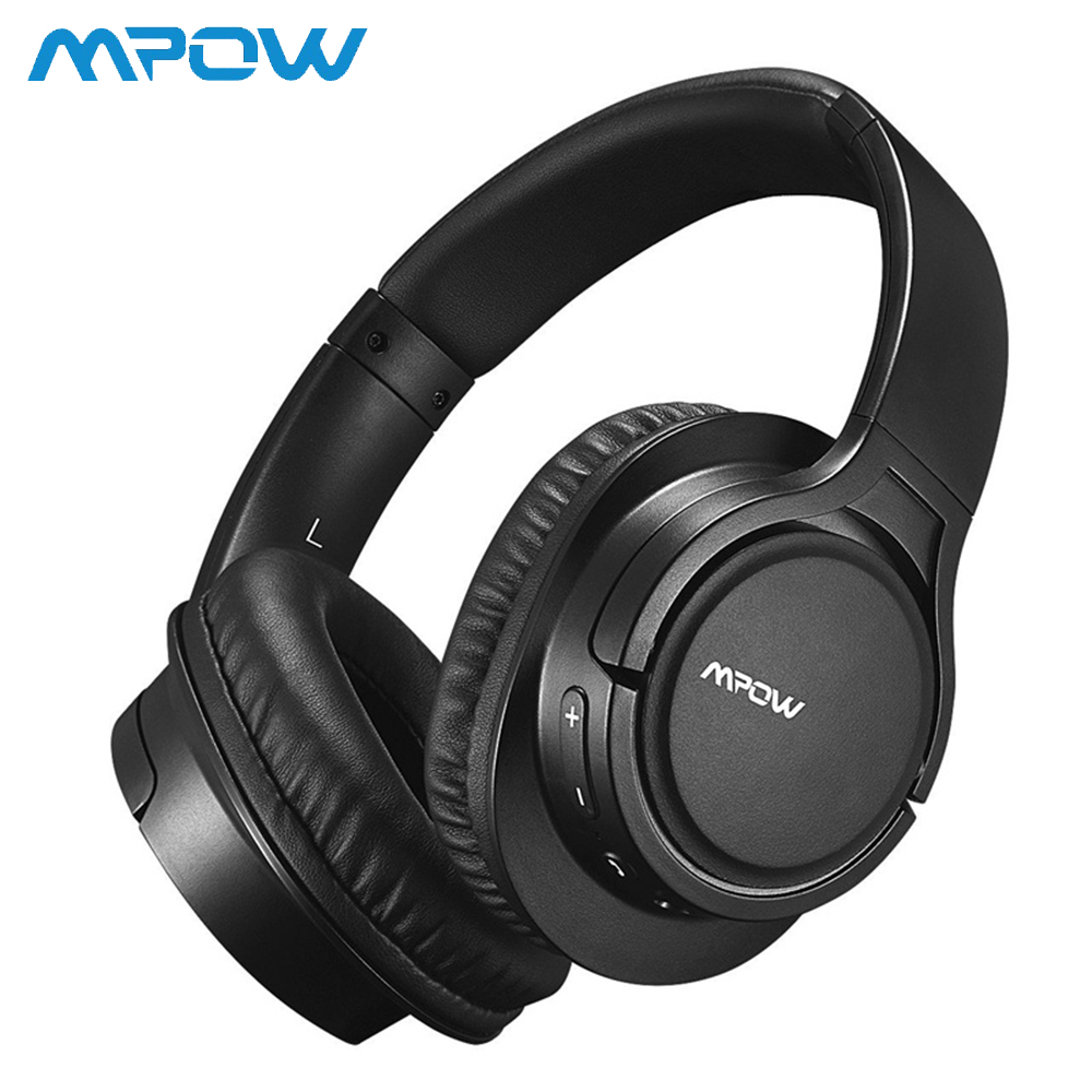 H7 Stereo Wireless Headset for Mpow Over Ear Bluetooth Headphones with Microphone Super Long 15 H Playtime Wireless Headphones