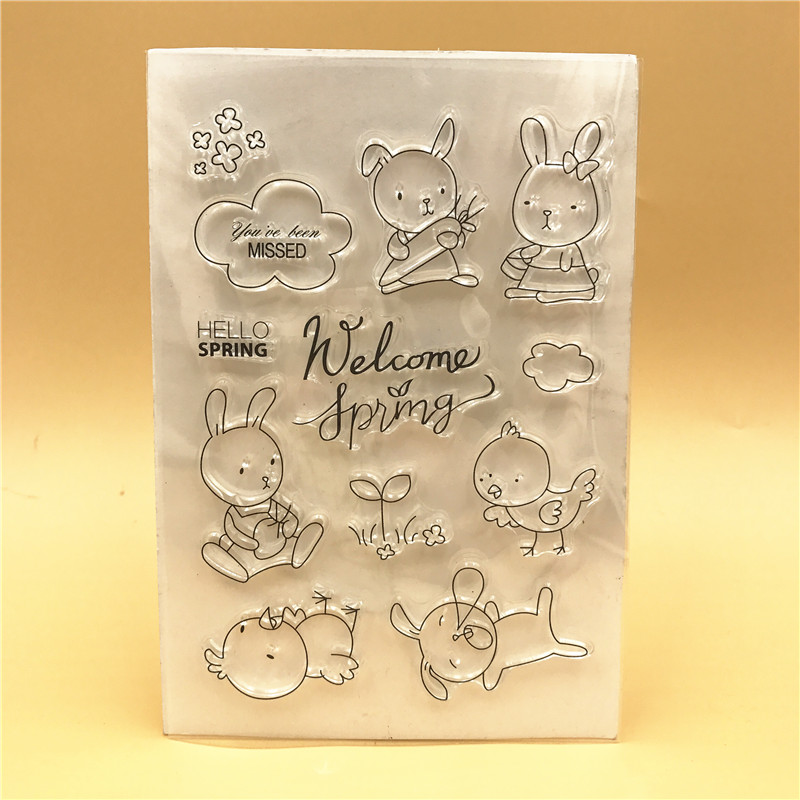 Rabbit BirdieTransparent Clear Silicone Stamp Seal DIY Scrapbooking photo Album Decorative Clear Stamp