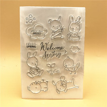 Rabbit BirdieTransparent Clear Silicone Stamp Seal  DIY Scrapbooking photo Album Decorative Clear Stamp
