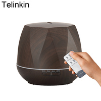 550ml Aroma Remote Control 7 Color LED Lamps Air Electric Humidifier For Home With Wood Grain