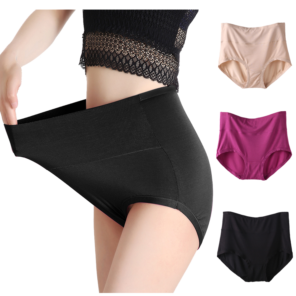 Amazing Fashion New Arrival Women's Plus Size Modal Panties Full Coverage Underwears