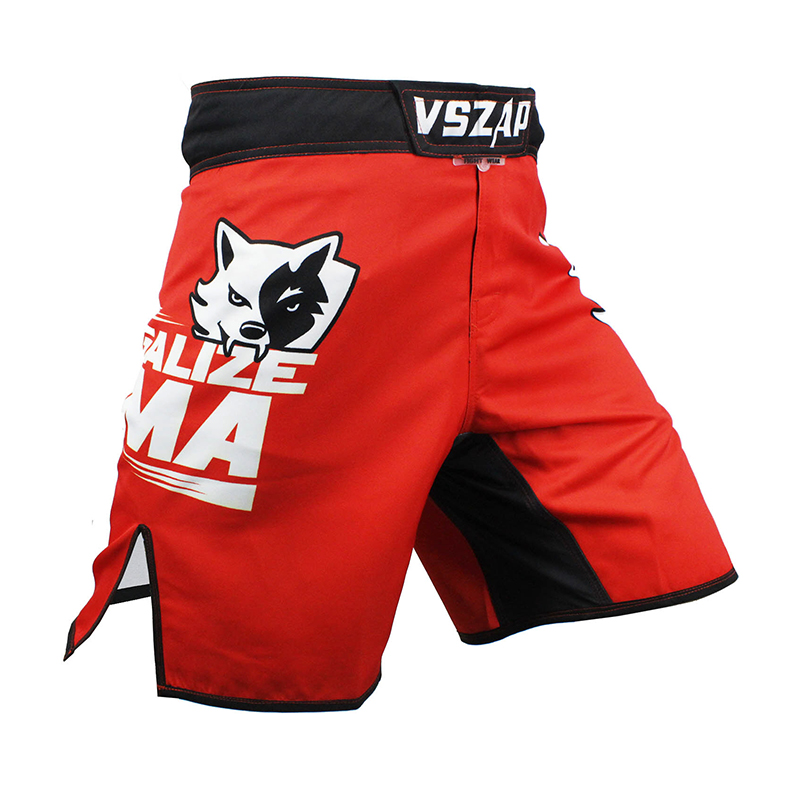 VSZAP LEGALISERA MMA Fightwear Boxning Trunks Motion Jiu-Jitsu Byxor Bad Bo Muay Thai Träning Boxer MMA Training Fight Shorts