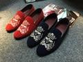 Только настоящая любовь Горячей продажи мужчины квартиры slip on обувь из натуральной кожи мокасины вышивка дышащий обувь для вождения размер: 38-43 Yjn-367