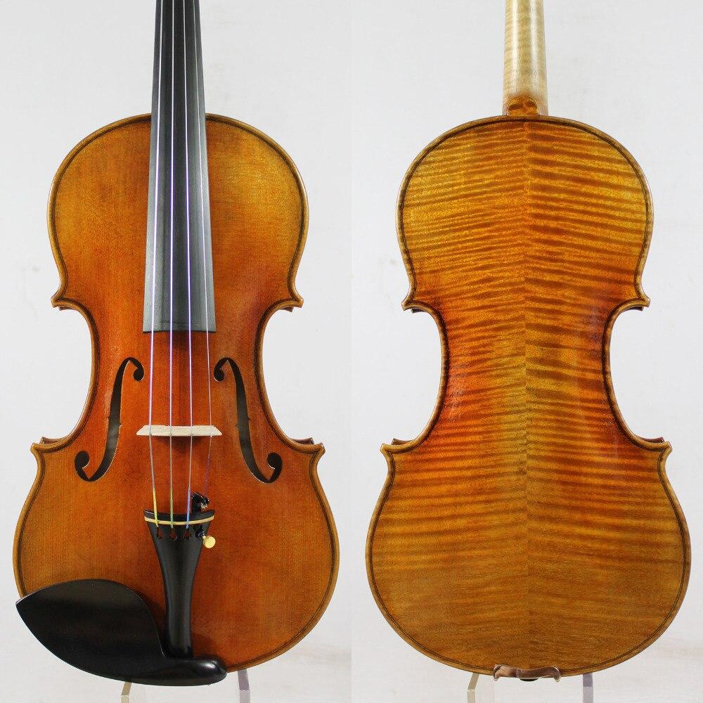Copia de violín El cañón de guarniere 'del Gesu' 1743. Toda la madera europea, barniz de aceite superior. ¡mejor rendimiento! envío gratis
