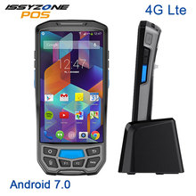 ISSYZONEPOS Handheld PDA 5 inch Android 7.0 4G 2D Barcode Scanner 2RAM 16G ROM Rugged PDA Wireless Barcode reader Printer caribe rugged pda android barcode scanner wireless ip65 waterproof with nfc reader
