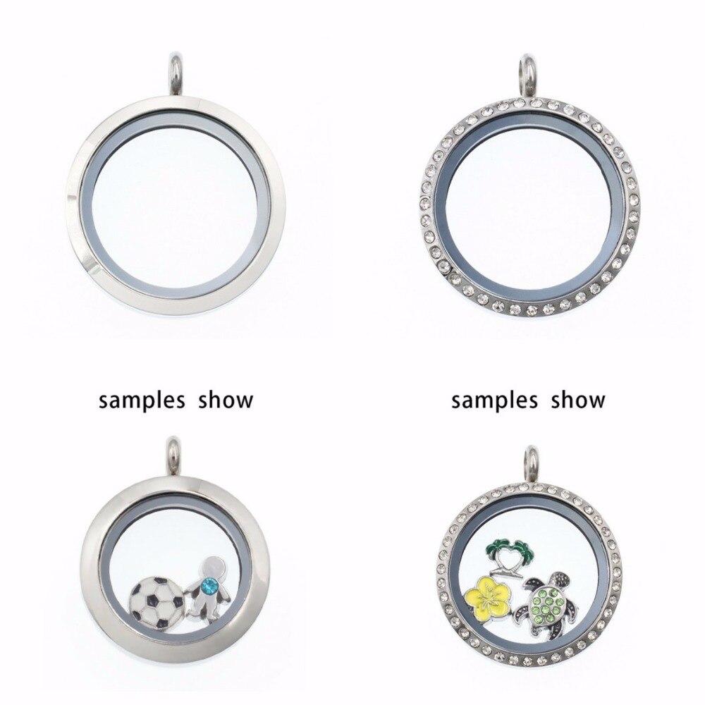 1 Pc 25mm/30mm Magnet/twist Schraube Edelstahl Glas Schwimm Medaillon Fit Für Halskette Schwimm Charme Speicher Charme Medaillon