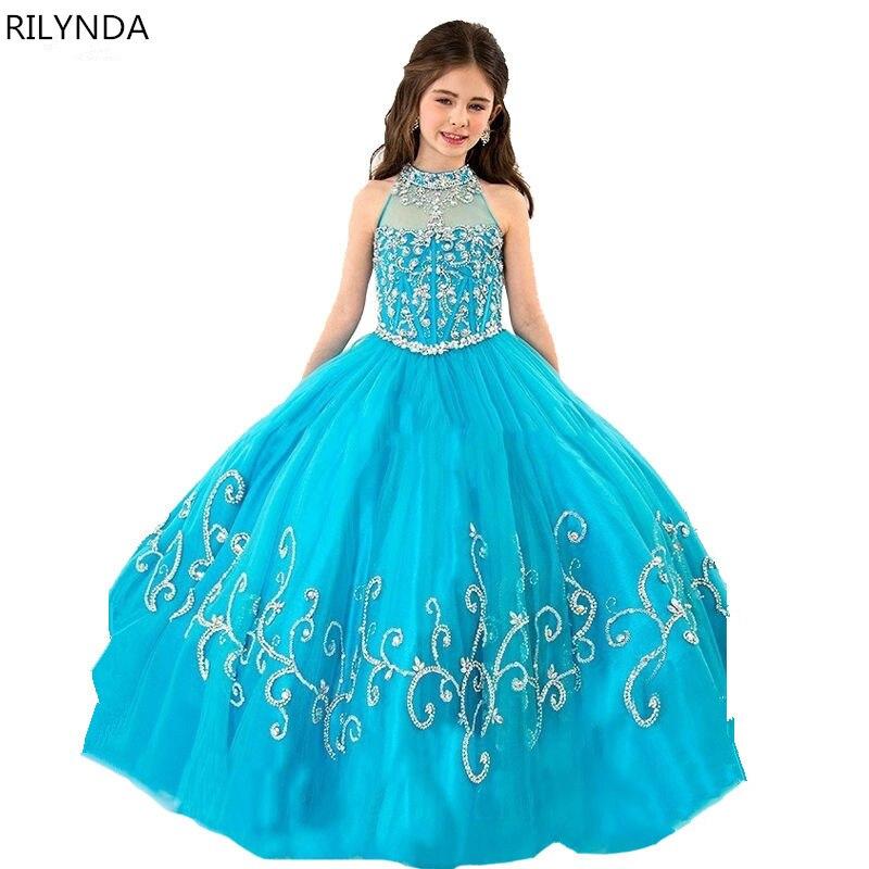 Чарующий синий костюм Эльзы Холтер корсет праздничные платья для Обувь для девочек Дети Нарядные платья Vestido FLORISTA