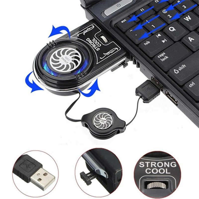 Mini Vacío fuerte extractor de aire fresco USB Notebook Laptop enfriador ventilador Pad Flexible externo para Notebook ordenador portátil