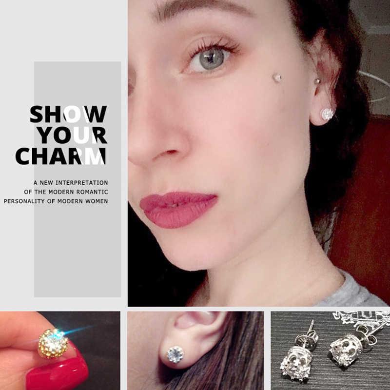 MISANANRYNE 2019 Stud Earings Fashion Jewelry Unisex Trendy Women/Men Crystal Earrings Crown Earring Piercing Gifts Wholesale FY