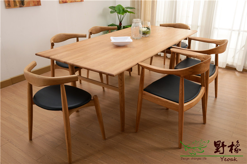 This Paragraph Oak Dining Table With White And Black Walnut Both North American Lumber Two Kinds Of Material Products For Customers To Choose