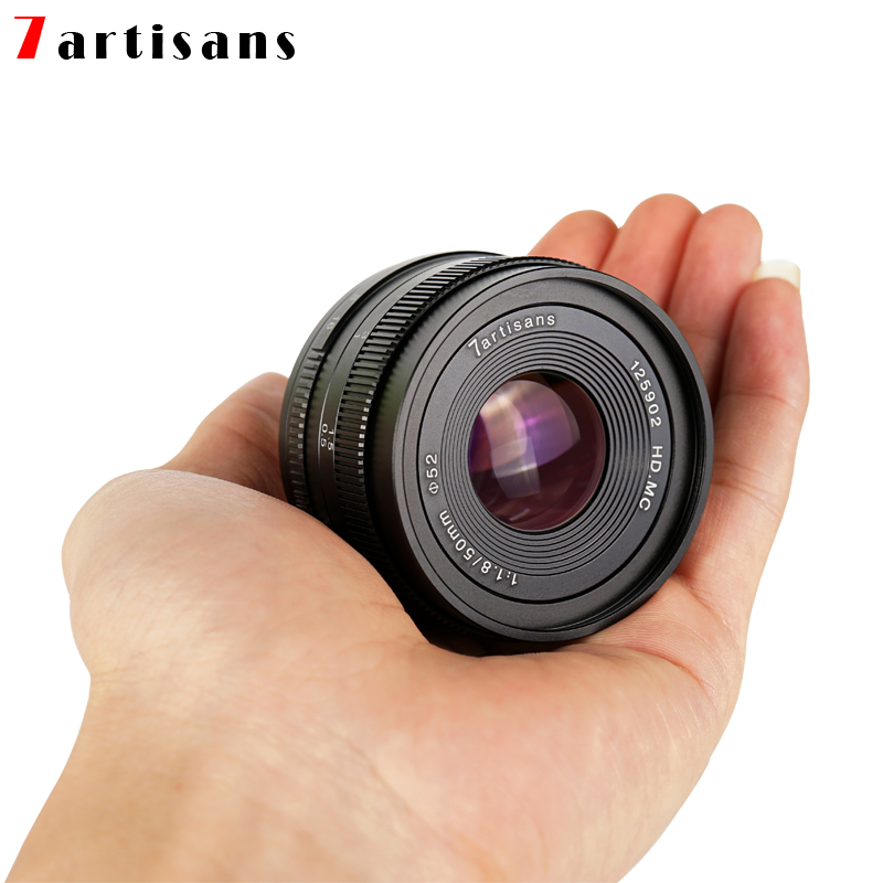 7artisans 50mm F1.8 Manual Focus Prime M43 <font><b>Lens</b></font> for Oympus Panasonic G1 G2 G3 G5 G6 G7 GF1 GF2 GF3 GF5 GF6 GM1 GM5 GM10 GX1 GX7 image