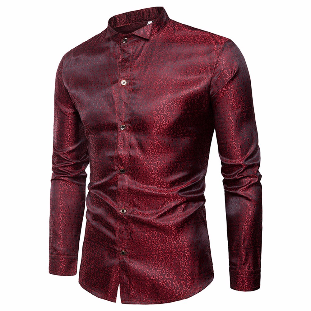 Neue Mode Feitong Große Größe Männer Shirt Slim Fit Langarm Streetwear Bluse Tops Casual-taste Shirts Formale Bluse Roupa Masculina #3 Attraktiv Und Langlebig