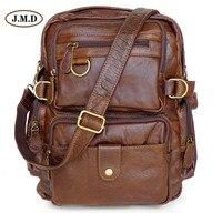 J.M.D 100% Guarantee Genuine Leather Fashion Causal Rucksack Schoolbag Multifunctional Design Travel Bag Backpack 7042