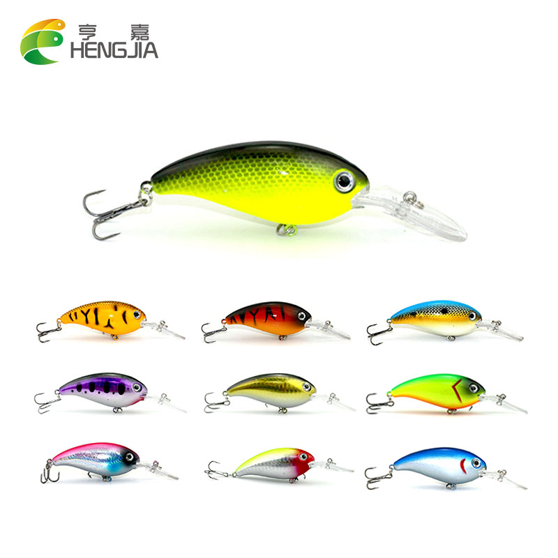 HENGJIA big wobbler fishing lure 13.8g 10cm crankbait isca Artificial bait bass pike trolling pesca peche carp fishing tackle wldslure 1pc 54g minnow sea fishing crankbait bass hard bait tuna lures wobbler trolling lure treble hook