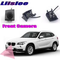 LiisLee Car Front Camera LOGO CAM Hood Mesh Front Grille CAM For BMW X1 E84 2009 2015 DIY Manually Control Channel Front Camera