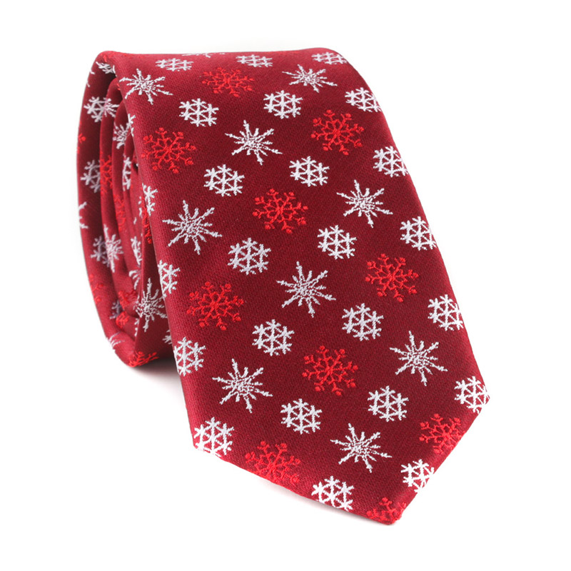 6 CM Brand Fashion Men's Ties Christmas Element Prinetd Neckties Silk Jacquard Slim Paisley Stripe Neckties Classic Business Tie