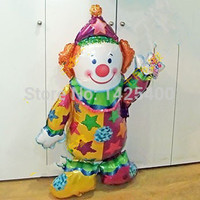 TSZWJ Free shipping import aluminum film balloon toy for children party holiday card stand Clown Balloon wholesale