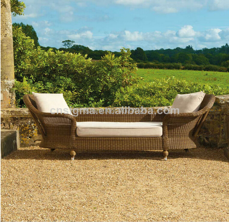 hot sale designed outdoor designed rattan armed lounger daybedchina mainland