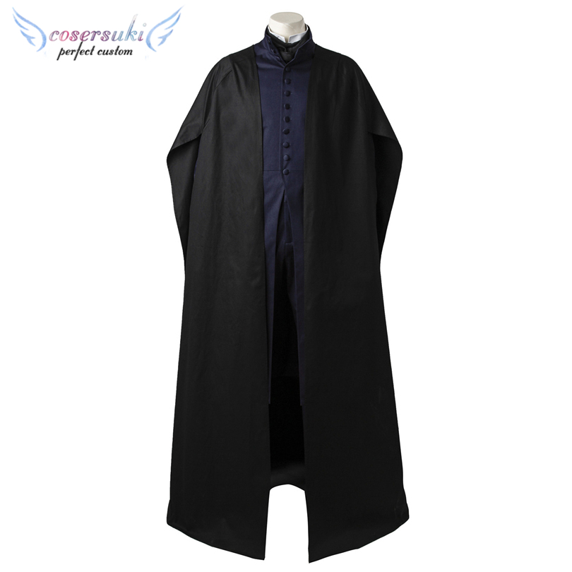 Harry Potter Severus Snape Cosplay Costumes Stage Performence Clothes ,Perfect Custom for You !