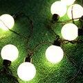 Novedad 2.5 M 10 unids 5 CM Gran Tamaño de La Bola LED Cadena Luz De La Navidad 220 V Hadas Guirnalda Wedding Garden Iluminación al aire libre