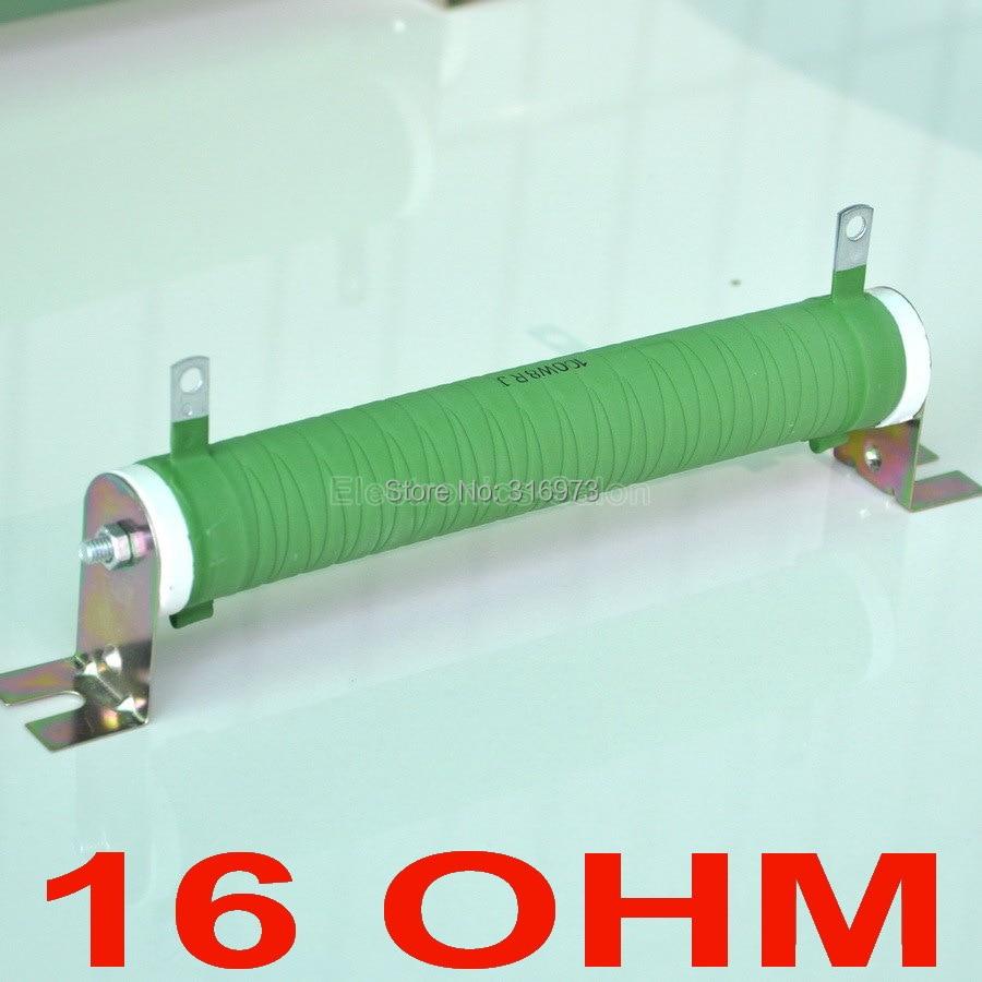 16 ohm 100 watt filo avvolto rivestito tubo di ceramica resistenza non induttiva, amplificatore audio carico fittizio, 100 w.16 ohm 100 watt filo avvolto rivestito tubo di ceramica resistenza non induttiva, amplificatore audio carico fittizio, 100 w.