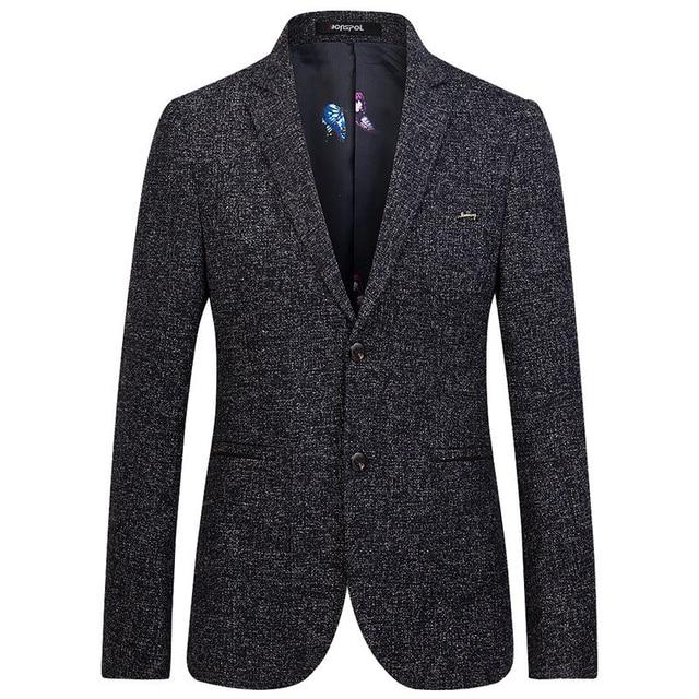 Cavalheiro Moda Ternos Casacos Mens 2017 Primavera Mais Novo Casual Slim Fit Blazer Jaqueta Plus Size S-XXXXL Versão Perfeita