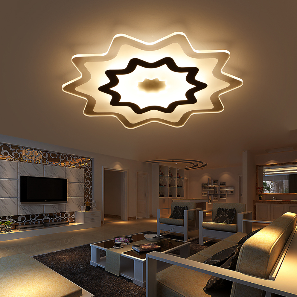 Bedroom ceiling lights stars - Led Nordic Iron Acrylic Star Led Lamp Led Light Ceiling Lights Led Ceiling