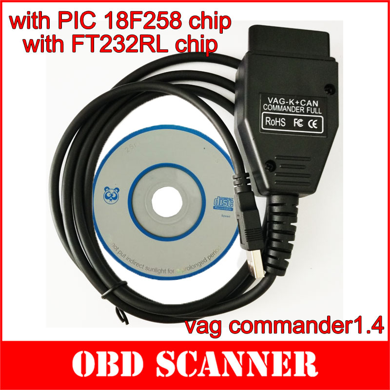 wholesale vag k can commander 1 4 obd2 diagnostic cable. Black Bedroom Furniture Sets. Home Design Ideas