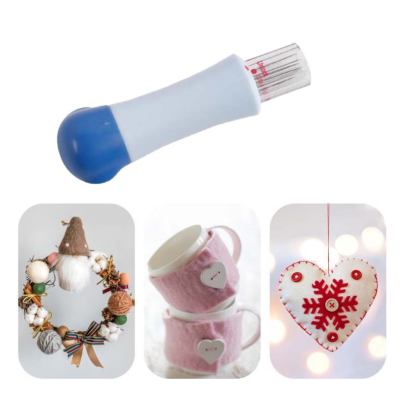 New DIY Needle Wool Felting 7 Needles Sewing Accessories Handle Holder Embroidery Mat Brush Kit Tools Sets Patchwork Arts Craft
