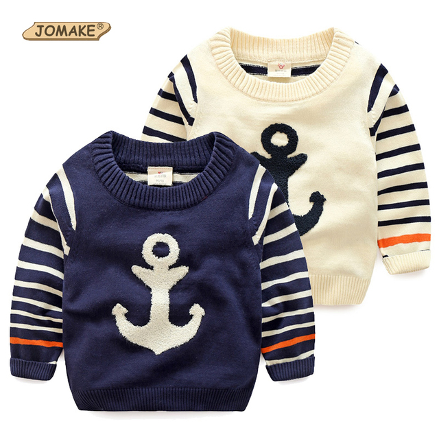 New 2017 Anchor Pattern Kids Boys Sweaters Children's Cotton Striped Sweater Boys Pullover Tops Toddler Autumn Baby Boy Clothes