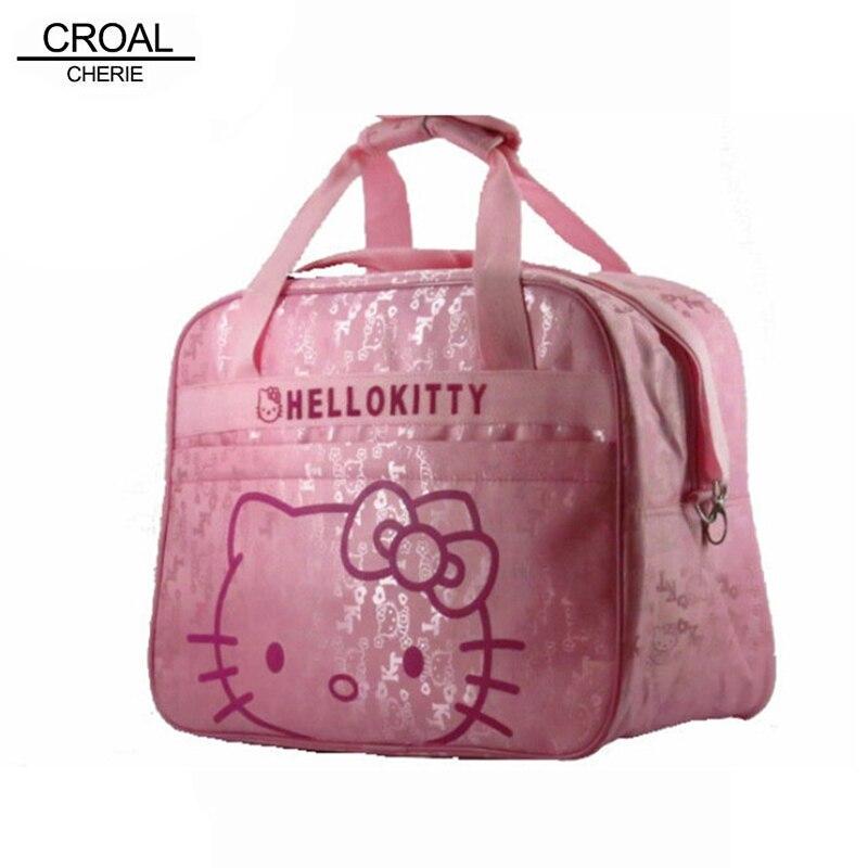Pink Hello Kitty Mother Bag Baby Diager Bags Multifunctional Canvas Bolsa Maternidade Baby Mama Stroller Maternity Bag Travel