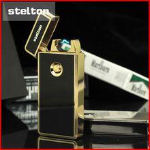 Steltonค่าใช้จ่ายusbเบาโลหะเบาwindproofเบาบางบุคลิกภาพอิเล็กทรอนิกส์เบาของขวัญจัดส่งฟรี