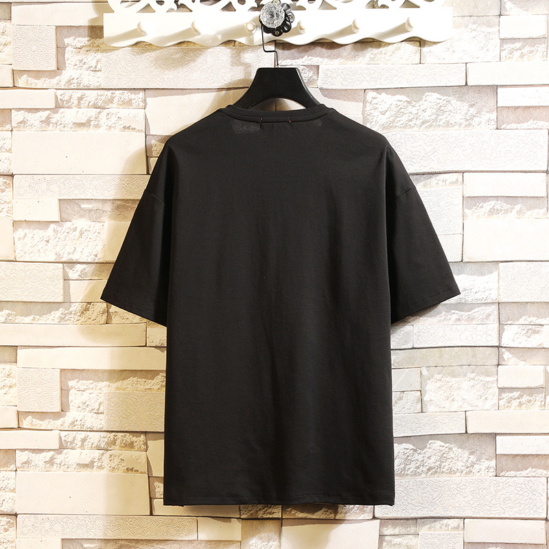 Men 39 s T Shirt Summer 2019 Tee Casual Loose Short Plain T Shirts O Neck Sport Over sized Cotton Blue Black Tees Men Tops M in T Shirts from Men 39 s Clothing