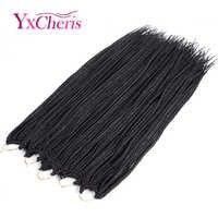 Crochet cheveux boîte tresses cheveux pour tresser 24 pouces Extensions de cheveux synthétique Crochet tresses