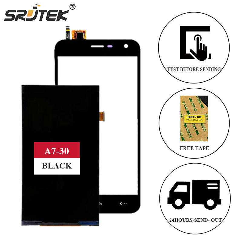 (XL0506540B1-30#1 1643) Black For Homtom HT3 Texted High Quality LCD Display 5.0 Touch Screen Digitizer For Homtom HT3 Pro