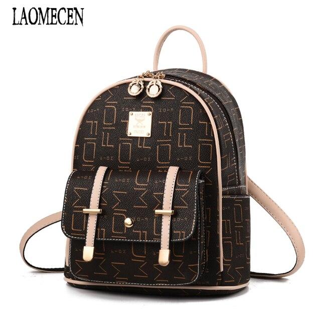 c8c52bde14 Women Leather Backpack Girls Mini Backpacks Vintage Noble School Bags Little  Woman Back Pack Small Pack Mochila Infantil 2018