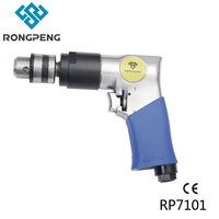RONGPENG PROFESSIONAL 3/8 REVERSIBLE AIR DRILL RP7101 1800RPM PNUEMATIC TOOL Wood Drilling