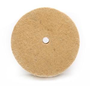 """Image 4 - 4 """"колесо с шерстяного войлока полировка шлифовального круга Полировочный диск Pad роторный инструмент 100*20 мм абразивные инструменты"""