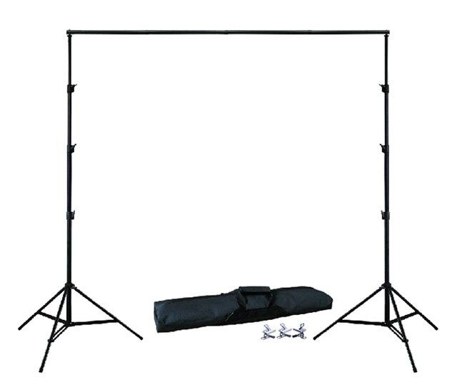 Фон держатель 10Ft X 6.5Ft 3 м X 2 м регулируемый Муслин Фон Поддержка Стенд Комплект сумка 4 шт. зажимы