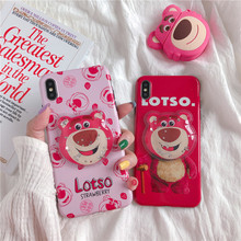 Cute Case for Iphone 6 6S 7 8 Plus 11 Pro Phone Cases for Iphone X XR XS MAX Case Cartoon Squishy Lotso Totoro Pattern design