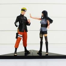 2Pcs/Set Naruto Anime Uzumaki Naruto + Hyuuga Hinata PVC Figures Hyuga Hinata Figure Doll Collection Toy 16cm Approx