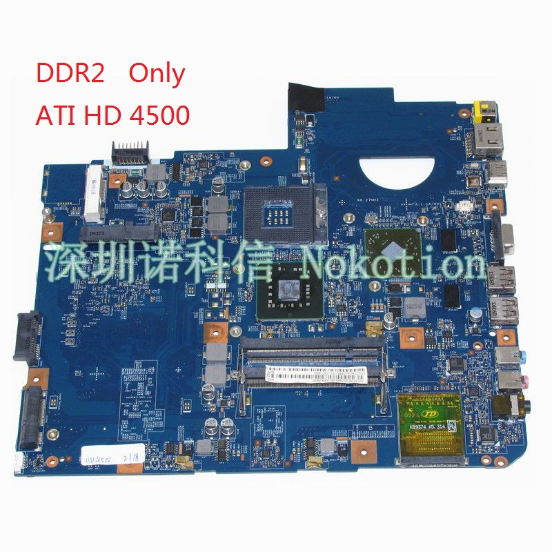 NOKOTION MBPKE01001 MB.PKE01.001 48.4CG07.011 Mainboard For acer aspire 5738 Laptop motherboard DDR2 ATI HD4500 video card nokotion la 5481p laptop motherboard for acer aspire 5516 5517 5532 mbpgy02001 mb pgy02 001 ddr2 free cpu mainboard