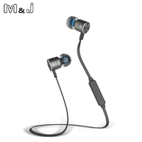 Jiabosi Magnet Wireless Bluetooth Earphone Stereo Sport In Ear Wireless Earbuds With Mic For Iphone Xiaomi