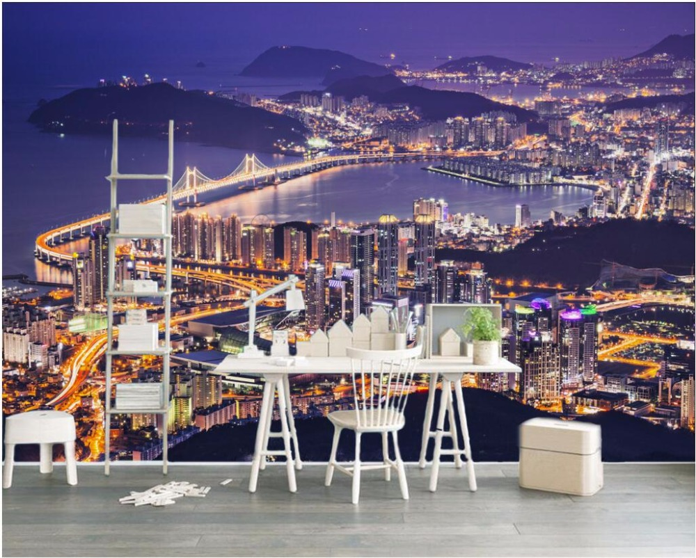 3d wallpaper custom mural photo European architecture city night view decor painting 3d wall murals wall paper for walls 3 d richard rogers architecture a modern view