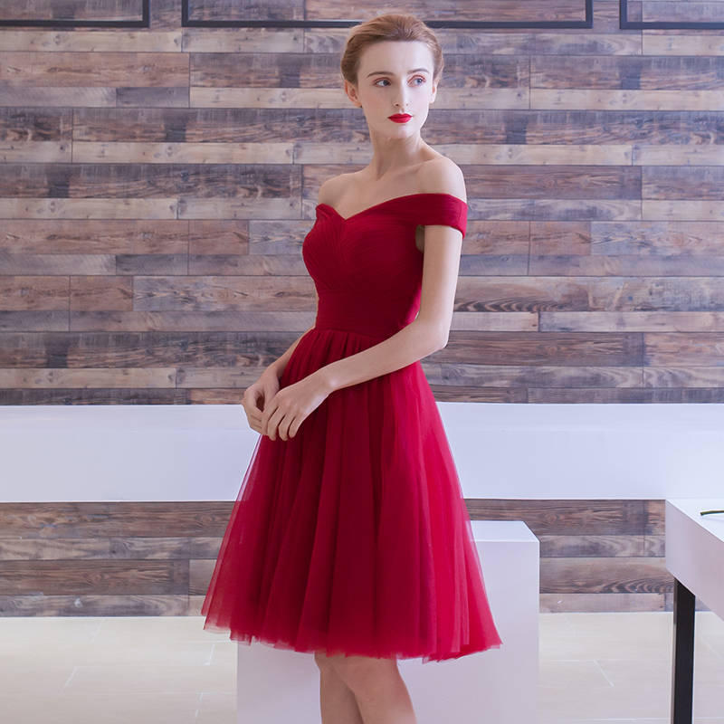 Cocktail Dresses 2018 Pleated Women Formal Prom Party Gown Short Cocktail Dress 3