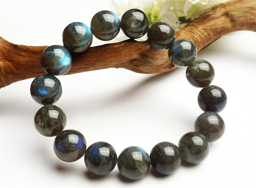 2017 New Arrival Fashion Stretch Power Bracelets For Women Mens 15mm Big Round Crystal Bead Natural Labradorite Bracelet2017 New Arrival Fashion Stretch Power Bracelets For Women Mens 15mm Big Round Crystal Bead Natural Labradorite Bracelet