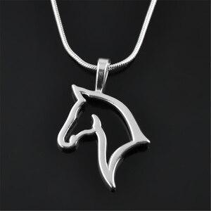 Подвеска в форме my shape, модная подвеска в форме лошадиной головы с серебряным покрытием