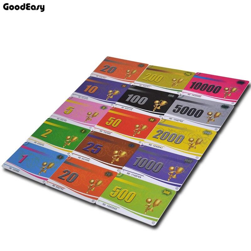 250 pièces/ensemble 14 dénomination PVC Poker puces carte Mahjong jeu de société compteurs PVC cartes amusant famille partie jeu